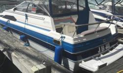 1987 Bayliner 2450 CR with a 230 HP Volvo Blue & White Engine(s): Fuel Type: Gas Engine Type: Stern Drive - I/O Quantity: 1