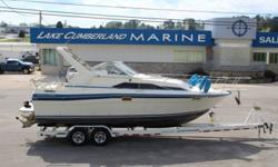 1987 Bayliner 2850 Sunbridge Contessa Series ? Volvo Penta 5.7 260HP w/ Dual Prop ? VHF Ship To Shore Radio ? Carry On A/C ? Microwave ? Pioneer AM/FM, CD, Aux Audio System ? Generator ? Fresh Water Pressurized ? Head w/ Pump Out Porta Pottie, Sink &
