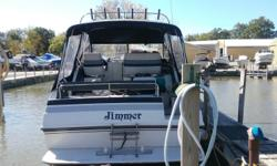 Nice boat for weekend fun and set up to fish. New bellows and newer canvas. Beam: 10 ft. 0 in. Compass; Depth fish finder; Stove; Vhf radio; Stereo; Bimini top; Shore power; Gps loran; Shower; Camper canvas; Swim platform;