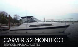 Actual Location: Bedford, MA - Stock #017362 - If you are in the market for a cruiser, look no further than this 1987 Carver Montego 3257, just reduced to $12,900 (offers encouraged).This vessel is located in Bedford, Massachusetts and is in good