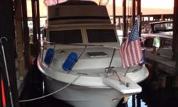 This is a very clean fresh water boat (full life in fresh water), and an excellent example of this popular aft cabin by Chris-Craft. Two nice size staterooms with double beds and head/showers, aft stateroom has a tub as well. Beautiful teak interior
