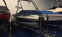 CANVAS MOORING COVER(BLUE) DECK SKI TOW TWO BOARD RACKS WAKEBOARD TOWER ELECTRICAL 12 VOLT SYSTEM BATTERY ELECTRONICS AM/FM CD PLAYER STEREO MECHANICAL BILGE BLOWER BILGE PUMP FIRE EXTINGUISHING SYSTEM HOUR METER(660) MANUAL STEERING STOCK# B14663