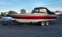 1987 Four Winns Liberator 261 Full camper enclosure! Twin 350's!! Refrigerator and inverter Boat runs in the mid 60's Trailer included Awesome boat Beam: 8 ft. 0 in.