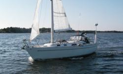The Freedom 36 - power and simplicity; fast and strong - This vessel is spacious below decks and easy to singlehand. (Same as F38, with a different transom). She has been upgraded, and has great gear with new Main, super canvas, air conditioning,