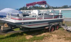 1987 Godfrey Hurricane 21 Boat only!! No motor, no trailer! Ready to fish,.........if you have some big paddles!!