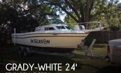 Actual Location: Pensacola, FL - Stock #086263 - If you are in the market for a walkaround, look no further than this 1987 Grady-White 240 Offshore, priced right at $17,500 (offers encouraged).This boat is located in Pensacola, Florida and is in great