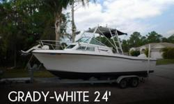 Actual Location: Port St Lucie, FL - Stock #099176 - Most everything on boat has been updated, has a hardtop with a removable half tower!Grady White Offshore 240 1987, with Evinrude 200 hp 2000, with tower. Grady quality with the awesome ride comfort!Boat