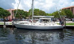 The Hylas 44' is a high quality cruising yacht with lovely lines drawn with a graceful sheer by renowned German Frers, providing exceptional performance with the ability to take you anywhere in the World. Her fine fit and finish is a result of the