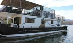 1987 Master Fabricator 561 100% ownership! Selling 56 foot MasterFab Houseboat located at Katherine Landing Marina Lake Mohave only a few miles from Laughlin Bullhead City and the Colorado River. Slip at the dock is optimally located with a beautiful view