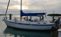 """A Charley Morgan designed Morgan Classic 41, owned by well-known author Kim Hess of Yoga Onboard and musician Eric Stone.Carry on their tradition of living the sailing lifestyle aboard """"Rainbow Connection!"""" The Morgan Classic 41was the upgrade"""