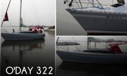 Actual Location: Annapolis, MD - Stock #088601 - Professionally Maintained and in very good condition!!This O'Day 322 sloop has a lot of extras. This boat has a winged keel for the shallow muddy Bay bottom, points well and a pleasure to cruise with the