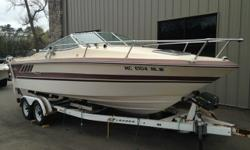 This boat was kept in great shape by mature and considerate first owner. Never abused. Surprisingly large deck area. All equipment comes with the boat. An oldie but a goodie. Make an offer. Trades considered. CANVAS CAMPER CANVAS (WHITE) ELECTRICAL 12