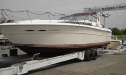 1987 Sea Ray Express Cruiser Series 390 New Top New Upholstery Twin Chevy 454 Engine New Mooring Cover New Batteries New Camper Top Depth Fresh Water Excellent Condition White Interior White Exterior Located in Southfield MI Financing Nationwide Shipping
