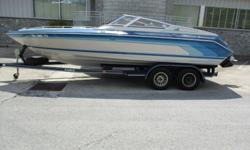 1987 Sea Ray 22 Pachanga ? MerCruiser 454 MAG- 365HP ? Stainless 3- Blade Prop ? Electric Engine Hatch ? Cockpit Canvas ? Thru-Hull Exhaust ? AM/FM CD Stereo System ? Compass ? Ski Tow Bar ? Painted Eagle Tandem Axle Trailer w/ Aluminum Wheels and Surge