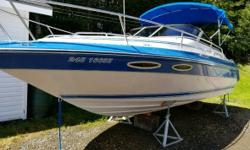 1989 Sea Ray Sorrento 24 Cuddy Cabin 1989 Sea Ray Sorrento 24 Cuddy Cagin This power boat is in excellent condition! 24 ft Fiberglass hull White exterior White interior Single engine 400 engine hours This boat is powered by a 350 MerCruiser with a Gen 2