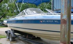 1987 Sea Ray Sorrento 23 this large bowrider can carry many people and handle larger bodies of water. The 260hp Mercruiser has power to pull tubes and skier's. there is a bimini to provide shade on thos ehot summer days.