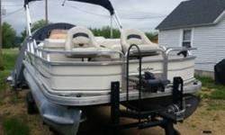 2007 Tracker Sun Tracker Pontoon 2007 21 ft Sun Tracker fishing barge. New bunk trailer New vented cover New fish depth finder Front and back live wells 60 hp mercury big foot Trolling motor. Located in Prairie du Chien WI Financing Nationwide Shipping