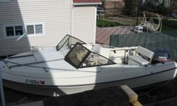 """Yamaha 130 HP engine. Trailer included. $6,000 OBO Category: Powerboats Water Capacity: 0 gal Type: Cuddy Cabin Holding Tank Details:  Manufacturer: Aqua Sport Holding Tank Size:  Model: Aqua Sport Passengers: 0 Year: 1988 Sleeps: 0 Length/LOA: 20' 0"""""""