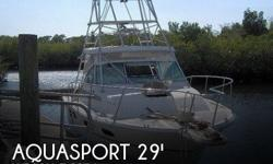 Actual Location: Hudson, FL - Stock #095695 - If you are in the market for a sportfish yacht, look no further than this 1988 Aquasport 290 Tournament Master, just reduced to $18,750 (offers encouraged).This boat is located in Hudson, Florida and is in