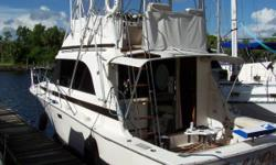 New Westerbeke Generator Installed 2017, Twin 3208 Caterpillars 260 HP Each, Full Electronics, V-Berth Bow, Bunks to Starboard Side, Outriggers, Marine Mat Sole Cockpit Nominal Length: 33' Length Overall: 33' Max Draft: 3' Engine(s): Fuel Type: Other