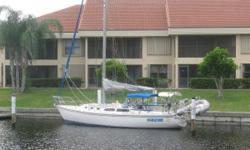 "Catalina 34 is a very popular model as a great family and friends coastal cruiser. After an enjoyable sail in this steady, well-designed sloop. Host dock and anchorage gatherings for 7-8. The wing keel shoal 4' 3"" draft is perfect for sailing in shallower"
