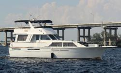 Twin 550hp Detroit Diesels, 20KW Onan Generator, (5) A/C Units (3 of 5 Replaced,) Radar, GPS, Auto Pilot, Washer/Dryer Combo, Vacu-Flush Heads, AGM Batteries, New Extended Bimini on Aft Bridge, New Maxwell Windlass, Complete Interior Remodel 4 Years Ago,