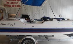 THIS NICE LOOKING OLDER VINTAGE SPORTS THE 4.3 LITRE V6 POWER, GOOD TRAILER, SUNTOP AND COVER, NICE UPHOLSTERY AND FLOORING, WE WILL WATER TEST IT BEFORE IT LEAVES, IT HAS $$350 FREE WARRANTY COVERAGE FOR AMONTH, NO CHARGE INCLUDED