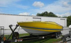 Fresh Water Boat!!! Twin 454/450hp Ke Exhaust with TRS drives. Comes with triple axle trailer. Nominal Length: 35' Length Overall: 35' Drive Up: 1.5' Draft: 1 ft. 6 in. Beam: 8 ft. 0 in. Fuel tank capacity: 200