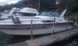 1988 Cruisers Yachts ESPRIT 3170 31EX Had The Upholstery Replaced Two Seasons Ago The Snap In Carpet Was Three Seasons Ago The Boat Rides Nice And Will Get Up On Plane Nice For A Bigger Boat Last Season I Replaced The Microwave As Well As The Stereo I