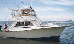 This is a solid, No-Nonsense Sporfisherman offered for sale. You are invited to call for a personal inspection. The Henriques 38 SF is untra sturdy with a no-nonsense profile to go with her practical layout. She's built on a solid glass modified-V hull