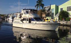 """This Jefferson Motor Yacht with sundeck, affords maximum space and would make a great choice for the """"Great Loop"""" adventure. Very low hours on the Caterpillar 3208 main engines and Westerbeke 8 KW generator will afford a long and useful life for her new"""