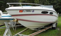 """1988 MACH 1, FORD 460 w/ COBRA OUTDRIVE, AND ALUMINUM TRAILER. IT IS IN NICE SHAPE FOR ITS YEAR. THIS RIG HAS NEW INTERIOR, NEW COCKPIT COVER, BIMINI TOP, SWIM PLATFORM, AND CABIN AREA. THIS RIG IS SOLD """"AS IS."""" ENGINE NEEDS WORK HAS OIL PRESSURE ISSUE."""