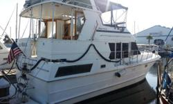 """The Heritage East 36 has all fiberglass decks and no teak decks to fix or maintain. This 1988 Nova Marine Heritage East Sundeck is new to the market in June 2015. """"Mello Moon"""" has been upgraded and well maintained by her current knowledgable owners. Both"""