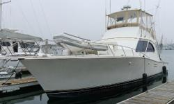 The Post 46 MkII Sportfisher is a solidly built, and elegantly styled yacht.  She features two staterooms, two heads, and twin diesel engines. This boat has higher hours, but she just made it down from Morro Bay on her own bottom, so she's ready for