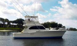 (LOCATION: Key West FL) The Post 46 Sport Fisherman is a big, brawny, fishing machine with great styling, outstanding accommodations, and exceptional performance. Lethal Weapon has been a successful charter proving the value of the 46 SF. The flybridge