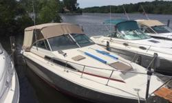 Price Reduced! New Canvas,New Bottom Paint,New Batteries Nominal Length: 27' Length Overall: 29.2' Max Draft: 2.7' Engine(s): Fuel Type: Other Engine Type: Stern Drive - I/O Draft: 2 ft. 8 in. Beam: 10 ft. 0 in. Fuel tank capacity: