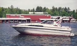 One of Sea Ray's most popular cruisers that was built. A one owner boat, only used on Lake Winnipesaukee. Ithas been stored in a boat house every summer. It is powered by twin 7.4L MerCruiser inboard engines. This is a