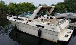 Great starter Express Cruiser. Twin power for dependable performance. Stern drives. Trades considered. Engine(s): Fuel Type: Gas Engine Type: Inboard Quantity: 2