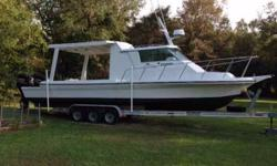 (LOCATION: Crawfordville FL) The 39 Sportcraft Coastal Fisherman is a tough, go-anywhere, fishing machine. She has a large covered cockpit with fishing room and pilothouse with cabin for comfort. She is powered by a set of 2015 Suzuki 300 engines to get