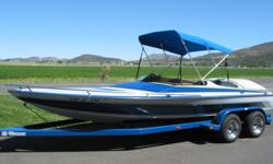 This Harden Classic is in like new or better then new condition. The Big Block that pushes a Mercruiser Outdrive are in great condition. In blues and grays with black highlights is near perfect with matching Bimini Top & Mooring Cover. A real Prize at