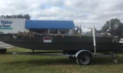 2014 GatorTail Surface Drive 35 CC 35 CC Duck boat. Center console. 35hp. Chart plotter Compass. Fish Finder. Fish Box. Surface drive engine with very low hours.. Folding Camouflage boat. Blind included along with life jackets & anchor etc.. Boat cover