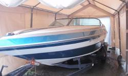 Completely rebuilt engine and outdrive in 2009 with only 25 hours, new 2008 Sony CD w/Amp Sub & upgraded speakers, Bimini top, bilge pump. carpet, SS prop, 3 spare props, Coast Guard pack, cockpit cover, compass, hydraulic steering, dual axle trailer