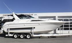 PRICE JUST REDUCED TO $19,900! Twin MerCruiser 5.7L 350 cid, 260 hp engines, aprx 704 hours & 700 hours Twin Alpha One sterndrives w/stainless steel props Metal Craft 3-axle trailer w/surge brakes, side guides & spare tire Trim tabs Halon (4) Batteries
