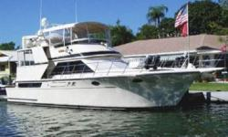 Overview SYNERGY is one of the most visually appealing cockpit motor yachts. Stoutly built, with an enclosed, hard-top covered, aft deck, she offers a great deal of volume in her traditional two-stateroom split layout. Both staterooms have island queen