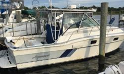 1989 Aquasport 290 Tournament Master 1989 Aquasport 290 Tournament Master 29 ft sport fishing boat Sound and in great shape All maintenance history documents and manuals in hand Loaded with all the instruments and extras Totally sound and well maintained