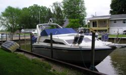A nice starter boat to get your feet wet or your next step up in boats. Beam: 9 ft. 7 in. Fuel tank capacity: 100 Speed max: 32 Compass; Stove; Boat cover; Vhf radio; Stereo; Shore power; Fridge; Swim platform;