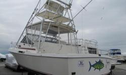 A rugged, smooth riding sportfisherman is ready for a new owner. It's equipped with tower, outriggers, enclosure, and full electronics.  While in port, the v-berth sleeps two and the dinette converts.  You'll be comfortable with air