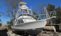 1989 32 Blackfin with tower! You got Engines? Because we got your boat! Being sold AS IS / WHERE IS! Has running gear, props, nice interior and in pretty good damnshape. Owner cant finish the dream project so you can take advantage of owning this