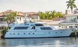Chairman is a typical Broward Raised Pilothouse design. Built with comfort in mind she has a full beam spacious salon with formal dining and relaxed living area. The galley is a classic Broward 'Country Kitchen' (eat-in) design. The
