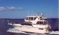 """1989 Californian 45 MOTOR YACHT REMARKS """"Ocean Flyer;"""" latest model 45 Californian represents an industry design best effort. Her equipment and condition are outstanding. A proven ideal """"Looper"""" and Bahamas cruiser. Note specifics in listings full detail."""